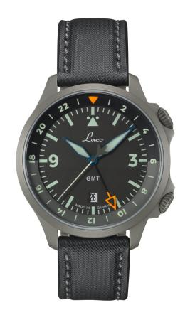 Laco Frankfurt GMT Black Pilot Watch Special Model - Automatic
